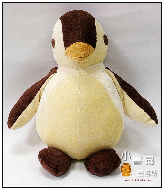 內頁放大:手工綿柔音樂布偶:胖胖企鵝(咖啡) (台灣製造)