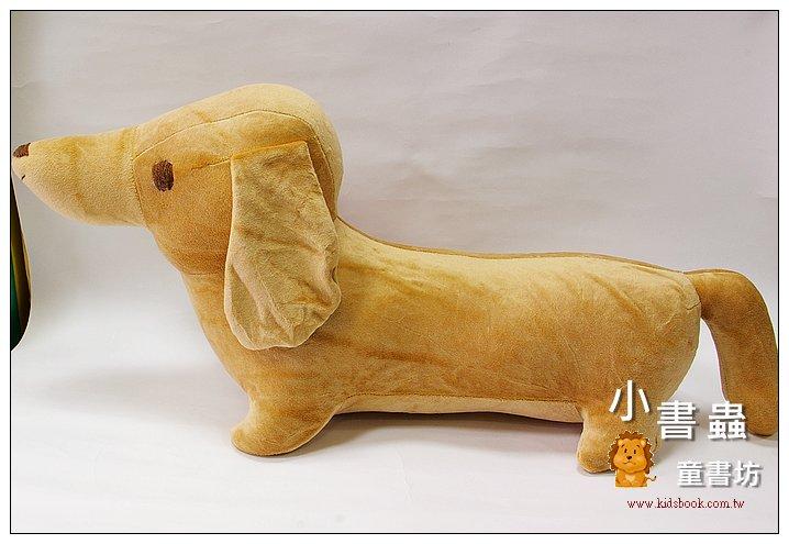 內頁放大:手工綿柔大布偶:(大)臘腸狗 (咖啡) (台灣製造)