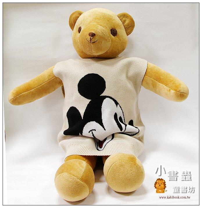 內頁放大:手工綿柔大布偶:大大熊(咖啡色 )(台灣製造)