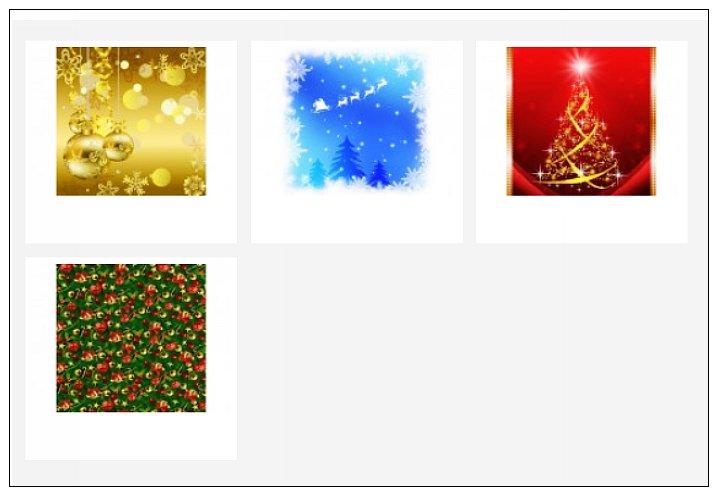內頁放大:日本色紙(花式)(單面):半透明聖誕節(4色調8枚)現貨:2