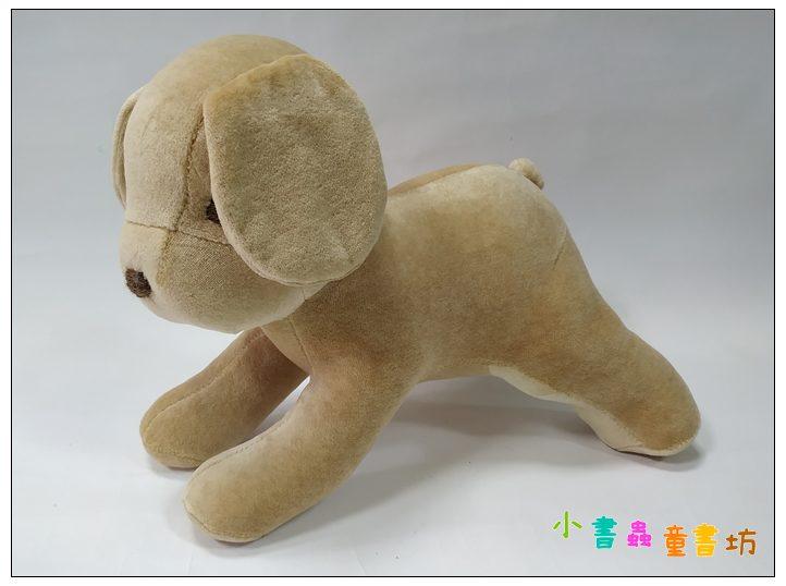 內頁放大:手工綿柔音樂布偶:抱抱狗─淺咖啡 (台灣製造)