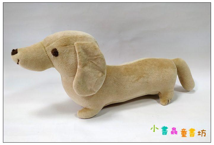 內頁放大:手工綿柔音樂布偶:臘腸狗(小)─淺咖啡 (台灣製造)