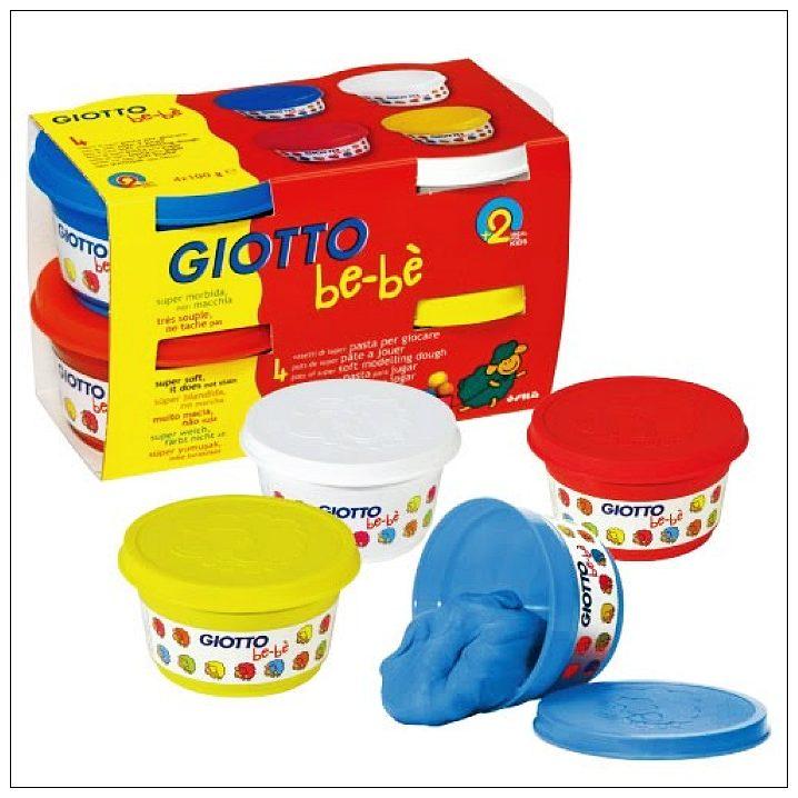 內頁放大:【義大利 GIOTTO】寶寶超軟黏土(4合1)紅黃藍白