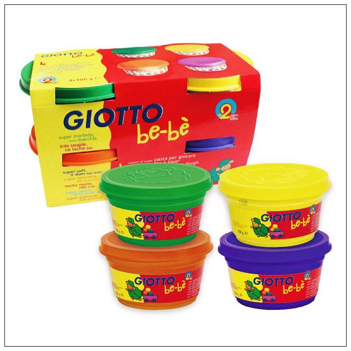 內頁放大:【義大利 GIOTTO】寶寶超軟黏土(4合1) 橘紫綠黃