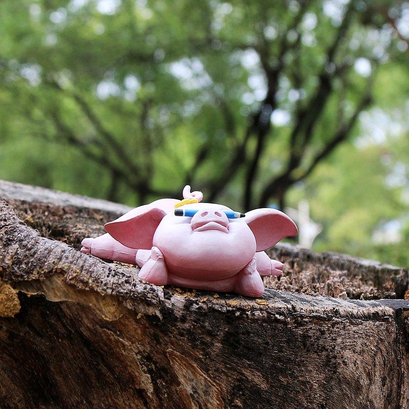 內頁放大:山林好朋友之「動物學校」逗趣公仔─看我厲害「平地豬」