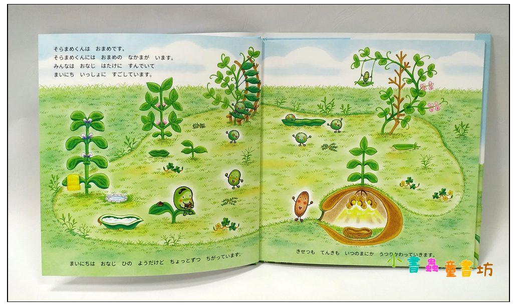 內頁放大:蠶豆寶寶繪本7:蠶豆寶寶-重要的每一天 (日文) (附中文翻譯)