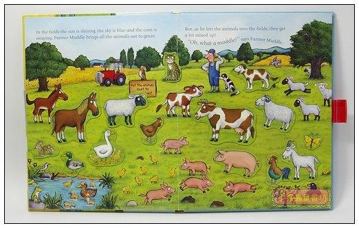 內頁放大:磁鐵遊戲書:Muddle Farm A Magnetic Play Book
