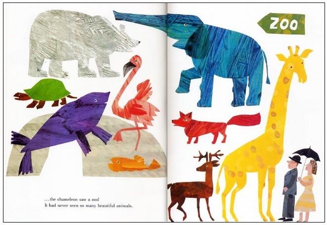 內頁放大:艾瑞.卡爾:The Mixed-Up Chameleon(拼拼湊湊變色龍)(硬頁書) (85折)