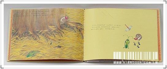 內頁放大:柳樹村昆蟲繪本3:金色龍捲風(日文版,附中文翻譯)