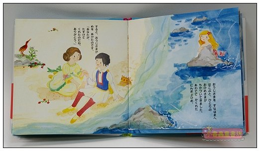 內頁放大:人魚公主:經典童話35(日文版,附中文翻譯)