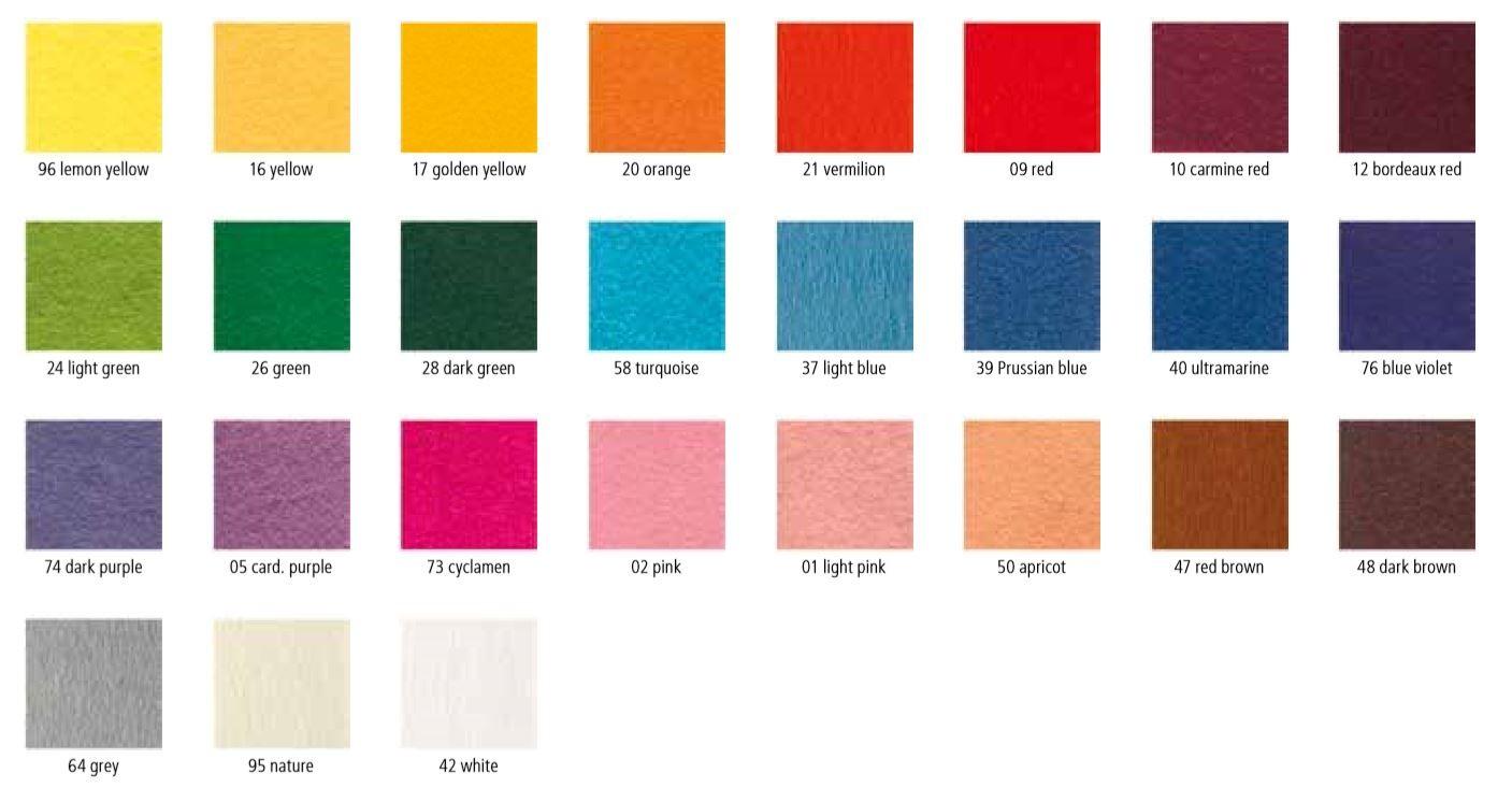 進口羊毛不織布(100%)27色