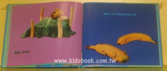內頁放大:蔬果雕塑繪本:Dog food