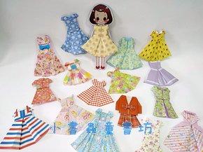 收買人心的摺紙小禮物~漂亮的摺紙娃娃衣服