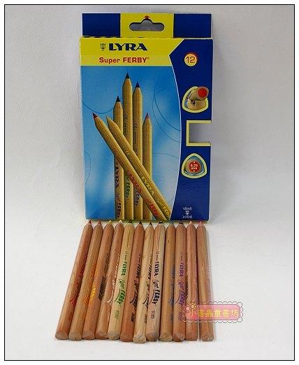 內頁放大:德國LYRA─粗三角彩色鉛筆─12色(17.5cm)