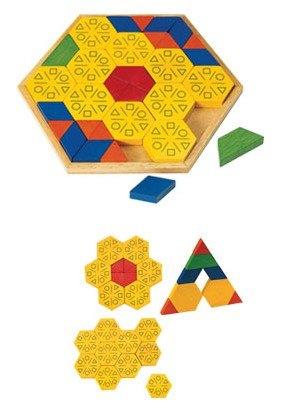 內頁放大:創意幾何拼圖4 六角形篇(梯形、三角形、六角形、菱形組合變化)(盒損庫存品出清)