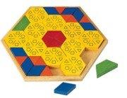 創意幾何拼圖4 六角形篇(梯形、三角形、六角形、菱形組合變化)(盒損庫存品出清)