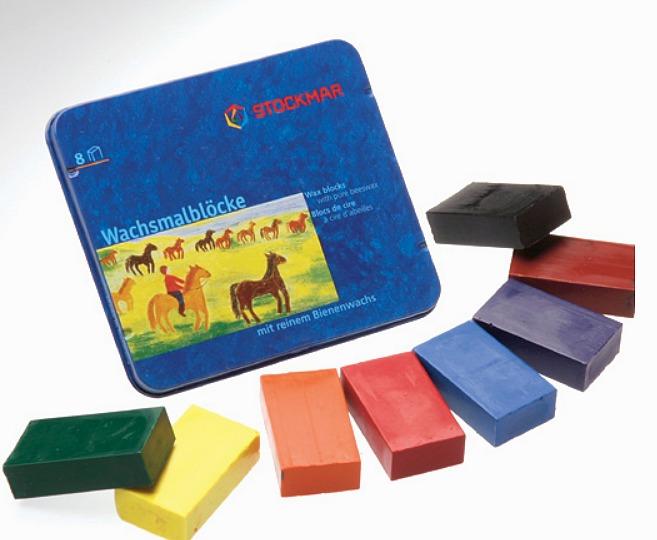 內頁放大:德國STOCKMAR:史都曼透明蜜蠟磚:8色(主色)鐵盒