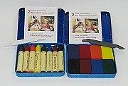 德國STOCKMAR:史都曼透明蜜蠟筆、磚 8色鐵盒 2合1