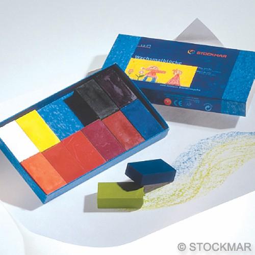 內頁放大:德國STOCKMAR:史都曼透明蜜蠟磚:12色 紙盒