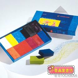 德國STOCKMAR:史都曼透明蜜蠟磚:12色 紙盒