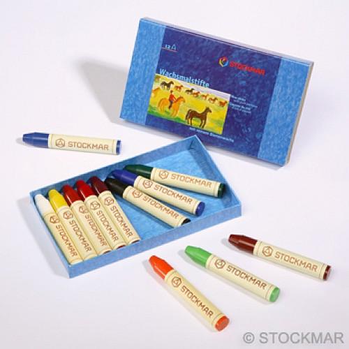 內頁放大:德國STOCKMAR:史都曼透明蜜蠟筆:12色 紙盒