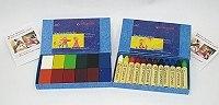 德國STOCKMAR:史都曼透明蜜蠟筆、磚 12色紙盒 2合1