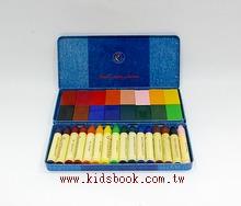 德國STOCKMAR:史都曼透明蜜蠟筆、磚 16色鐵盒 2合1