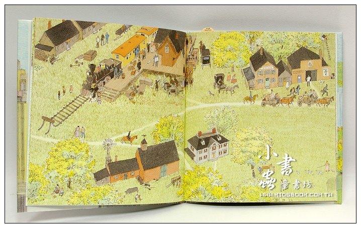 內頁放大:旅之繪本Ⅳ:美國(日文版):安野光雅