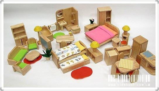 內頁放大:娃娃屋配件:六套傢俱組 A款(絕版品)