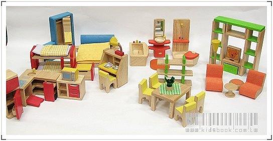 內頁放大:娃娃屋配件:六套傢俱組 B款(絕版商品)