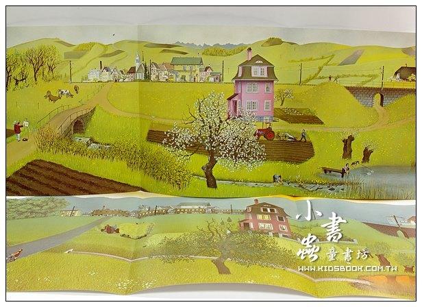 內頁放大:環保繪本(中階)挖土機年年響─鄉村變了(79折)