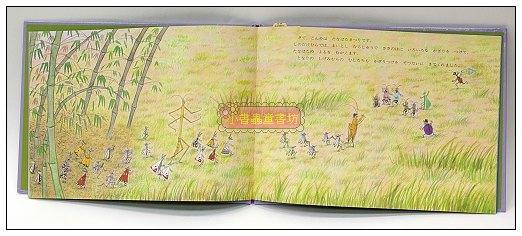 內頁放大:柳樹村昆蟲繪本6: 矮竹村的草叢學校(日文版,附中文翻譯)