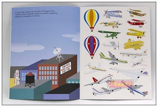 內頁放大:進口貼紙遊戲書-AIRPLANES