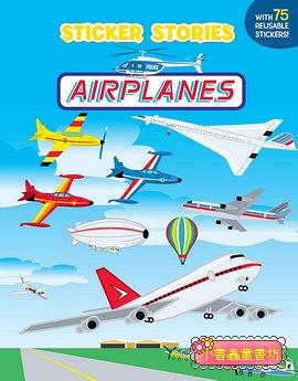 進口貼紙遊戲書-AIRPLANES