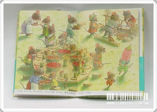 內頁放大:14隻老鼠吃早餐(日文版,附中文翻譯)(春天繪本故事)