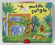 磁鐵遊戲書:Muddle Jungle Magnetic Play Book