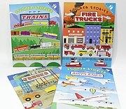 進口貼紙遊戲書~交通工具4合1
