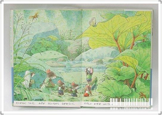 內頁放大:14隻老鼠洗衣服(日文) (附中文翻譯)