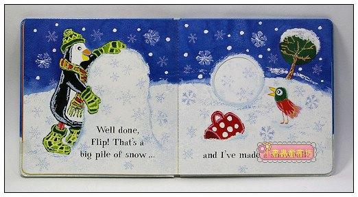 內頁放大:跳跳企鵝寶寶故事繪本:Flip's Snowman(現貨數量:1)