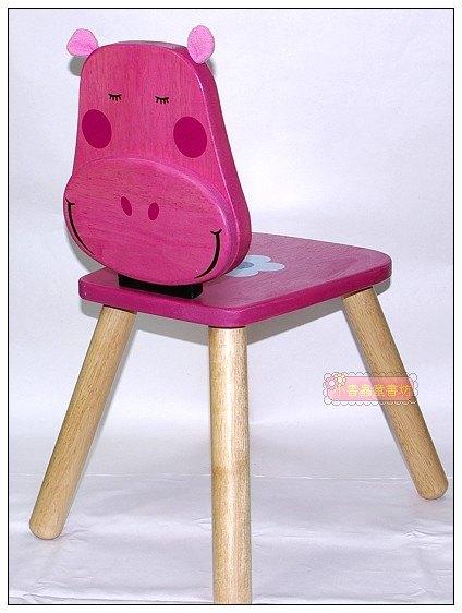 內頁放大:可愛動物造型椅:粉紅小河馬