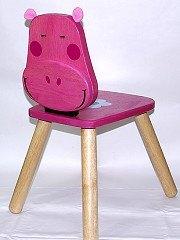 可愛動物造型椅:粉紅小河馬