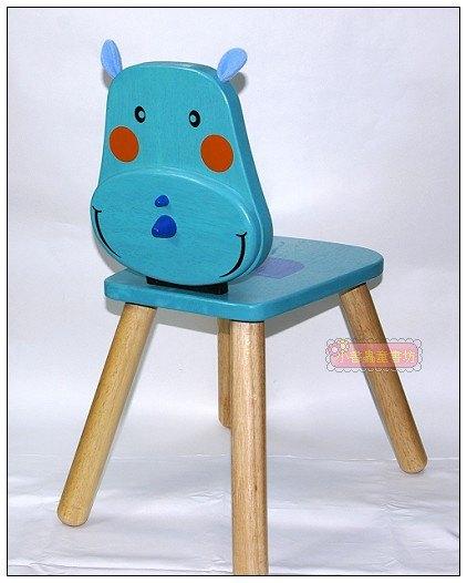 內頁放大:可愛動物造型椅:粉藍小犀牛