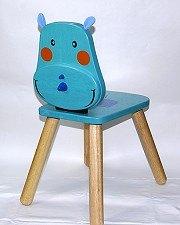 可愛動物造型椅:粉藍小犀牛