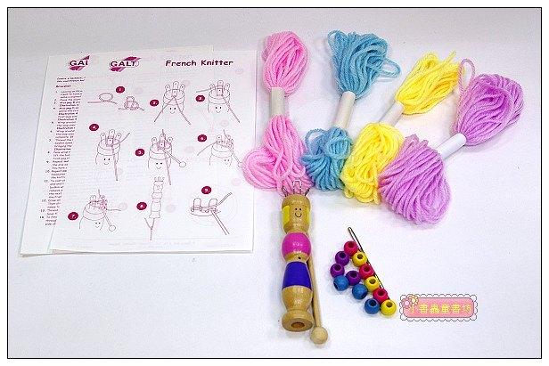內頁放大:毛線編織~簡易手環