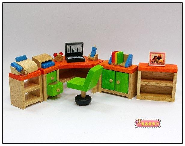 內頁放大:娃娃屋配件:書房組 S555C(絕版商品)