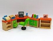 娃娃屋配件:書房組 S555C(絕版商品)