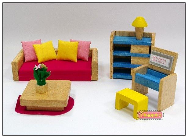 內頁放大:娃娃屋配件:客房組 S555B(絕版商品)