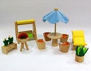 娃娃屋配件:庭院組 S555G(絕版商品)