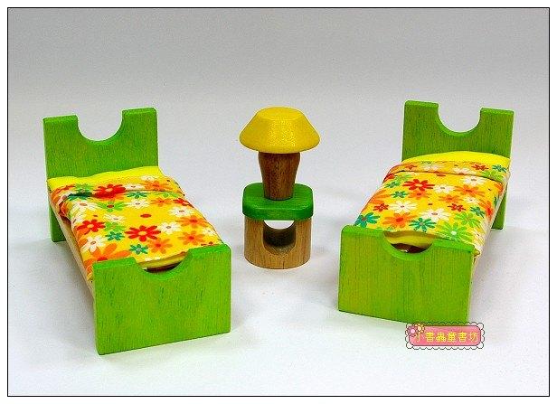 內頁放大:娃娃屋配件:兒童床組 S555H(絕版商品)