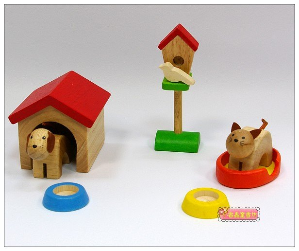 內頁放大:娃娃屋配件:寵物組 S555F(絕版商品)